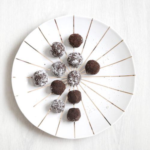 Balls chocolat, snack sain et énergétique